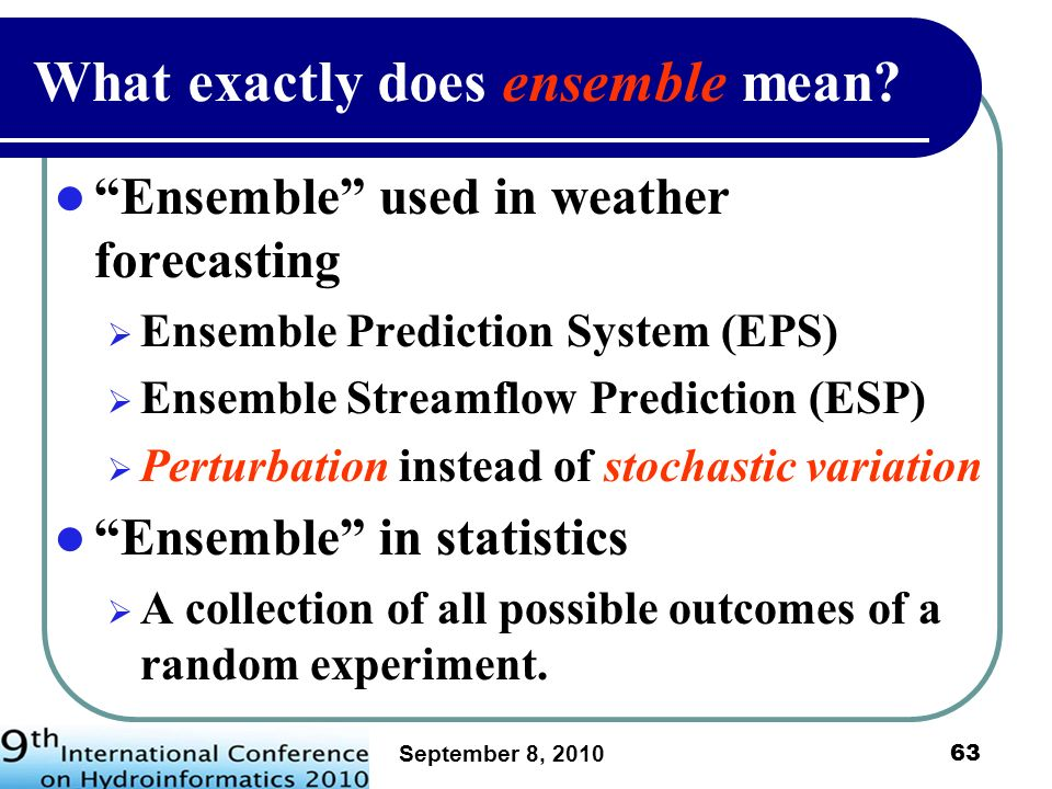 What exactly does ensemble mean
