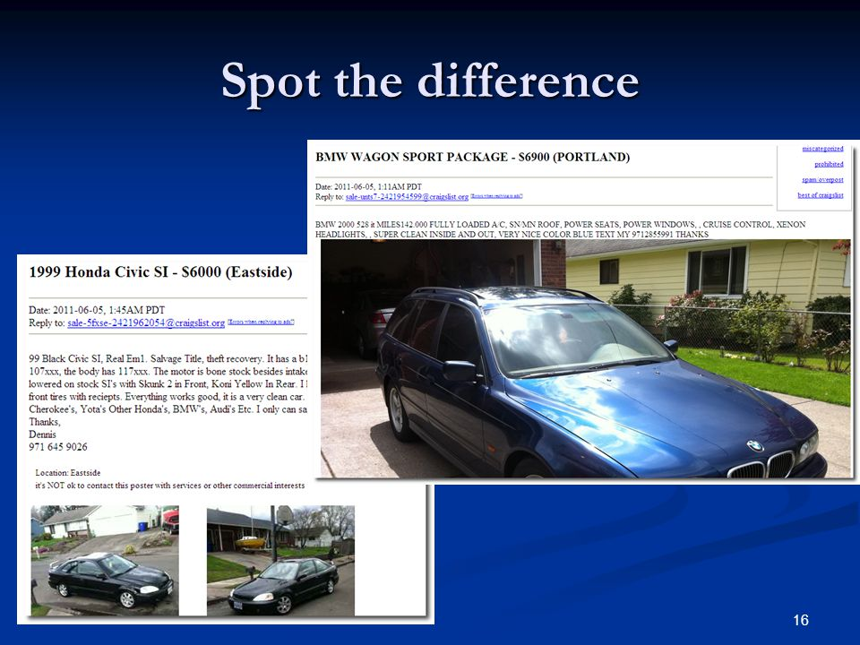 How to Improve Investigations in Online Classifieds - ppt