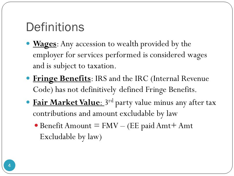 COMPENSATION & BENEFITS Is it all Taxable & Income? - ppt