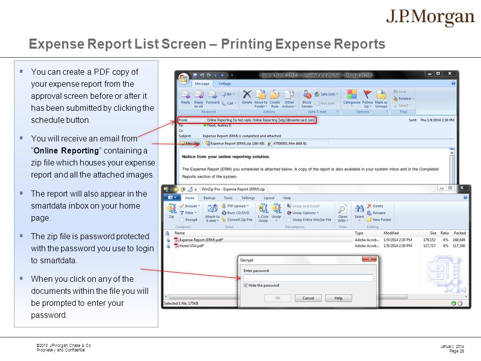 expense report training ppt download