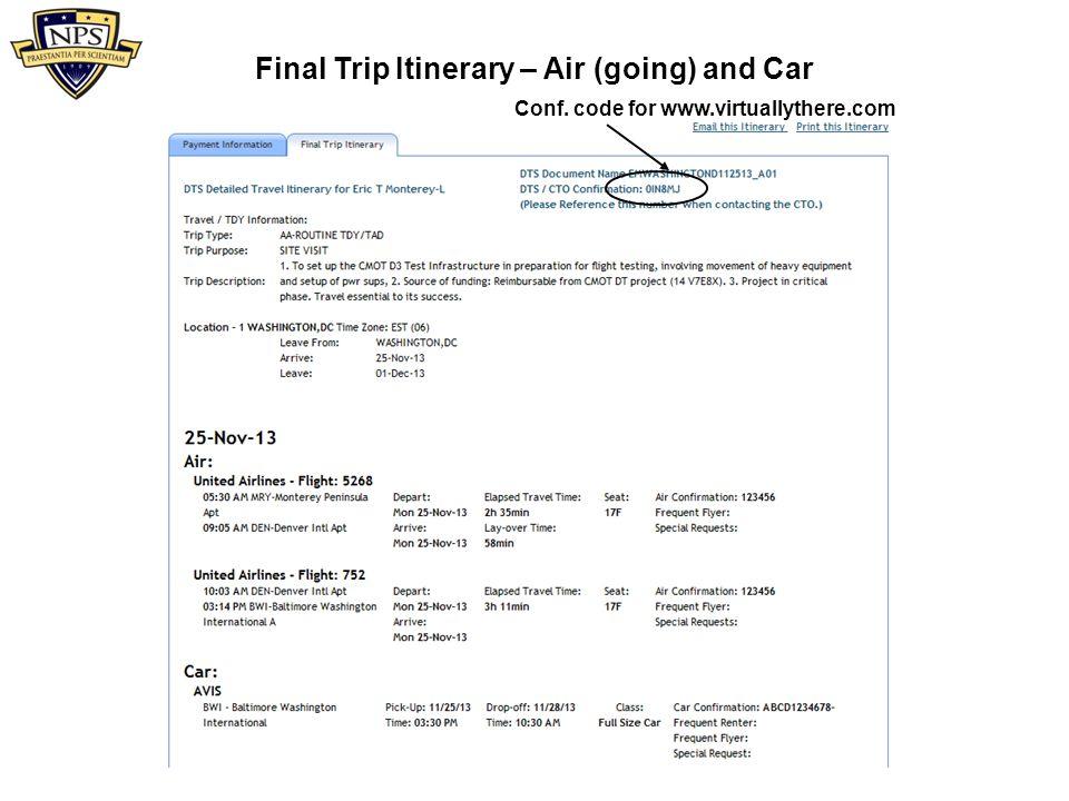 sato military travel itinerary