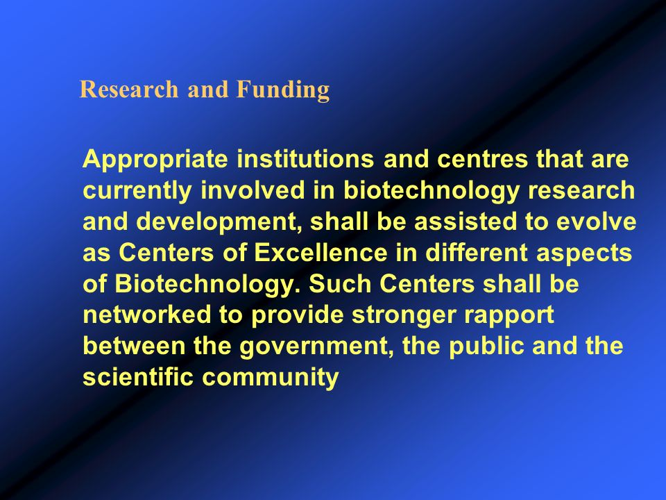 Research and Funding