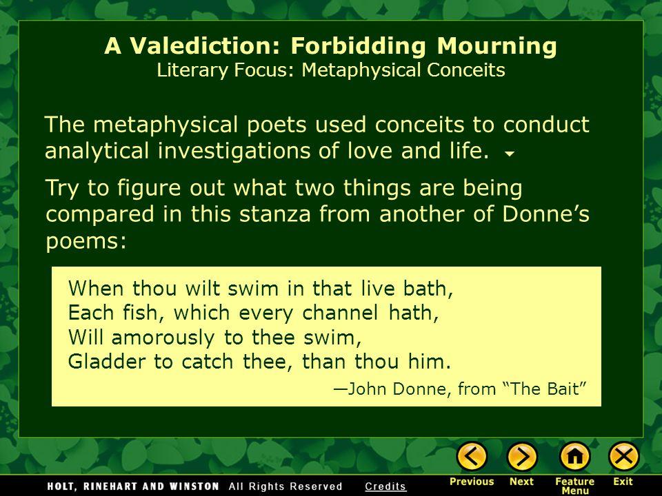 a valediction forbidding mourning poem