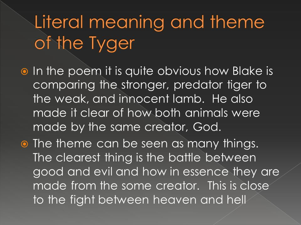 tyger poem summary