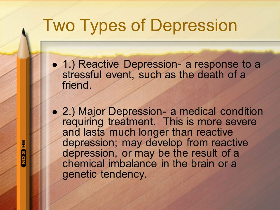 Two Types of Depression