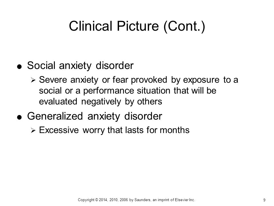 Clinical Picture (Cont.)