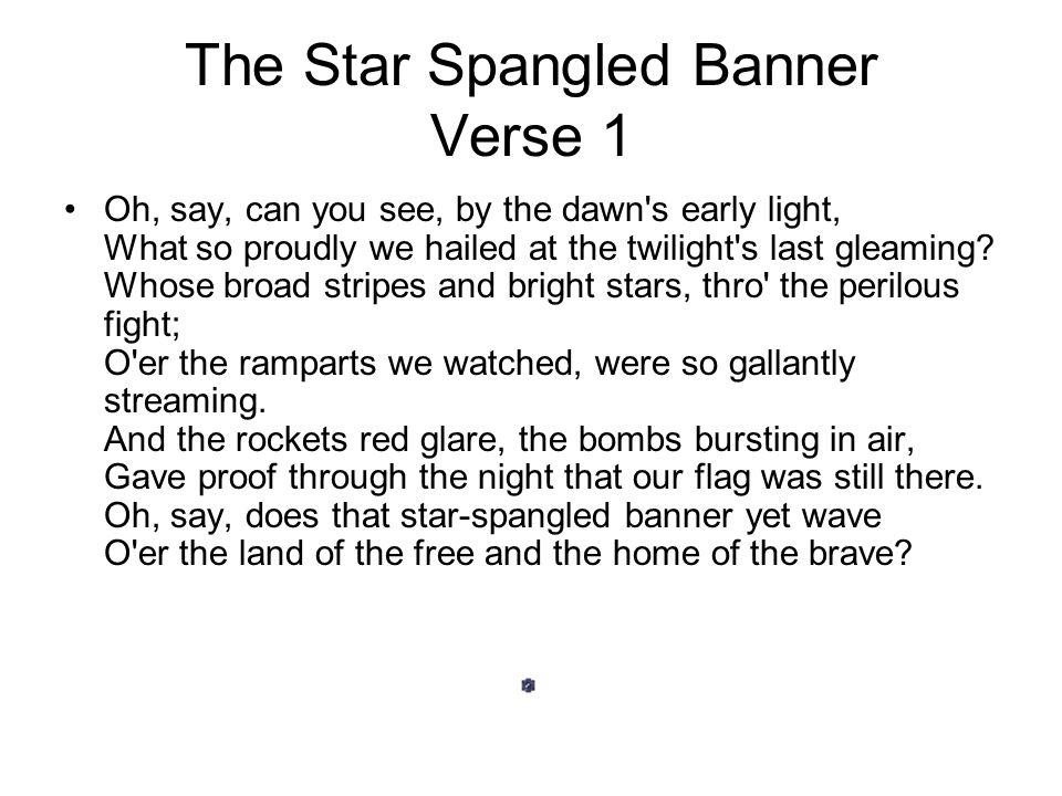 Lyric star banner lyrics : The Star Spangled Banner - ppt video online download