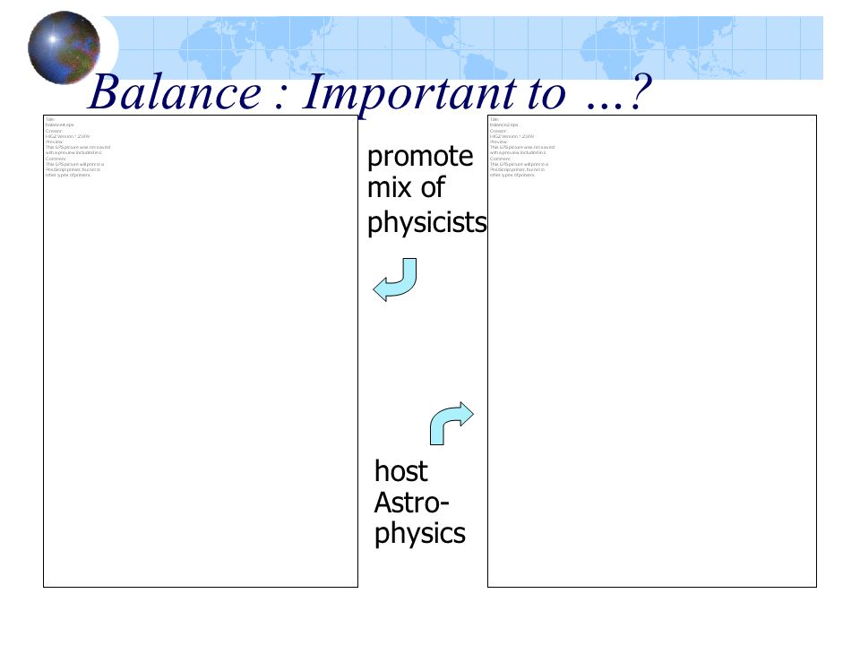 Balance : Important to …