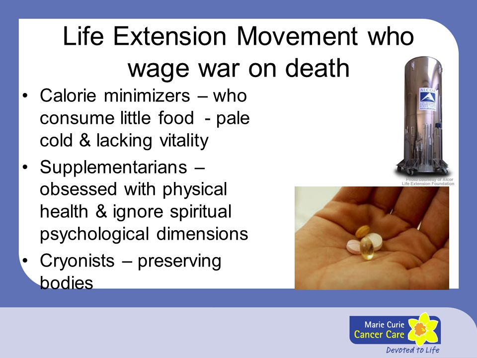 Life Extension Movement who wage war on death