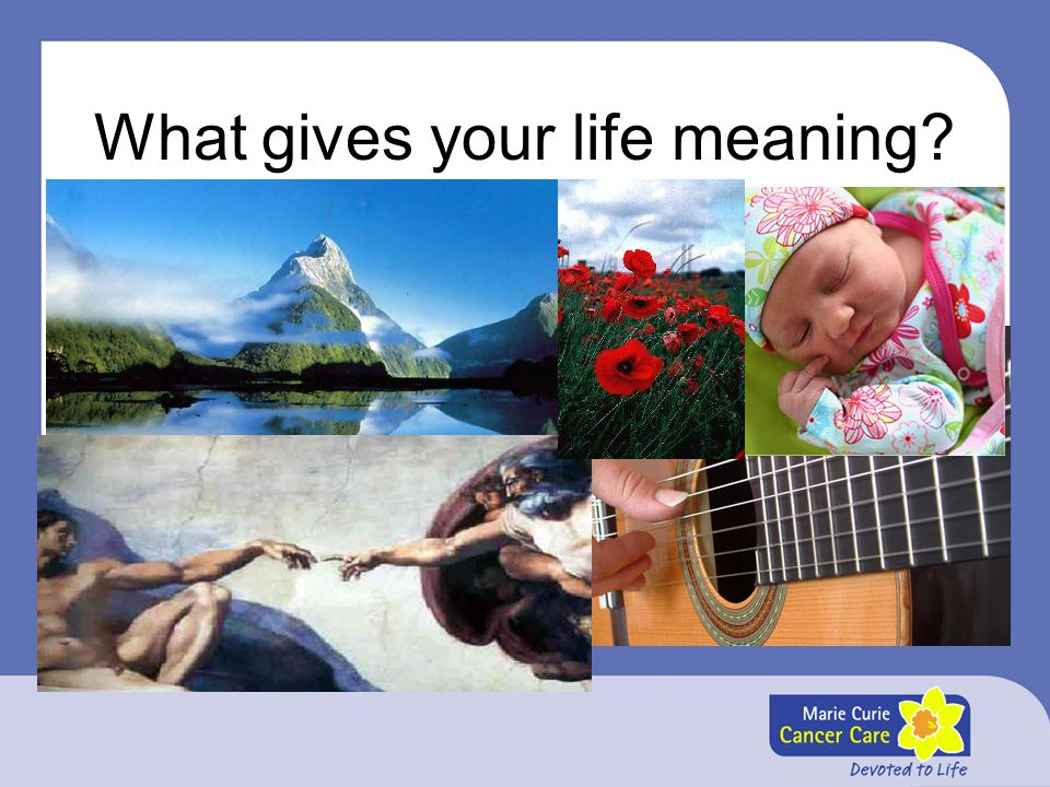 What gives your life meaning