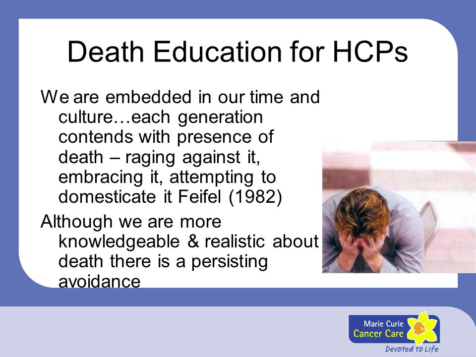 Death Education for HCPs