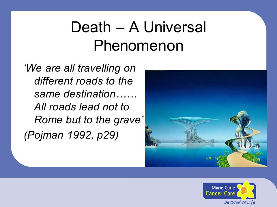 Death – A Universal Phenomenon