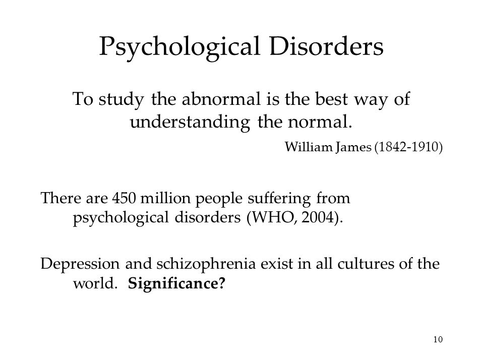 Psychological disorder case study examples