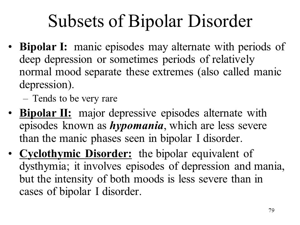 manic episodes alternate with depressive episodes in the disorder called