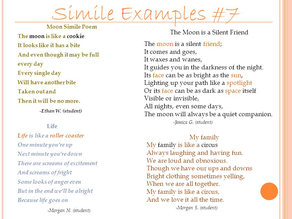 Examples Of Similes In Poems Image Collections Example Cover