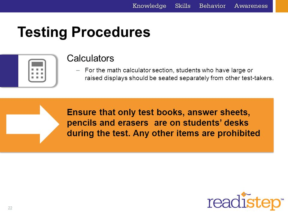 Testing Procedures Calculators