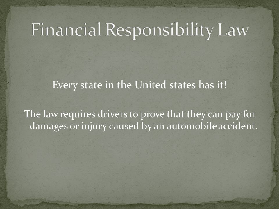 Financial Responsibility Law