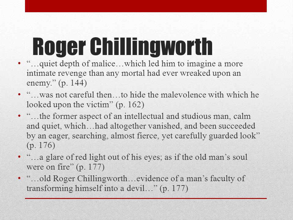 scarlet letter chillingworth quotes