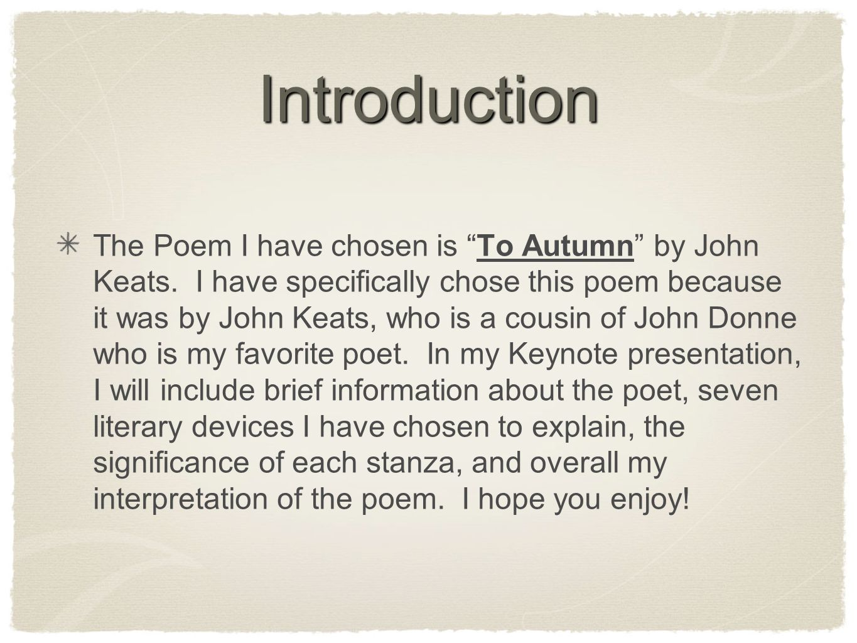 to autumn john keats poem