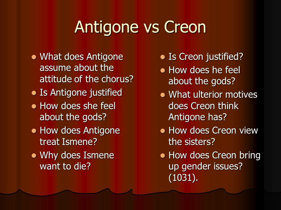 describe creons death sentence for antigone