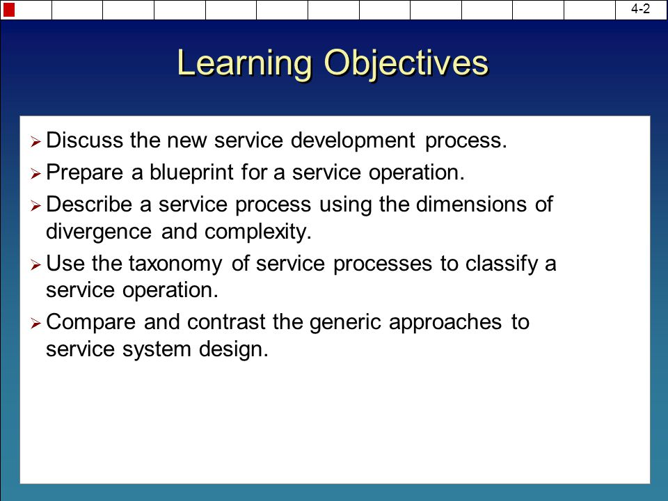 Chapter 4 new service development ppt video online download learning objectives discuss the new service development process malvernweather Images