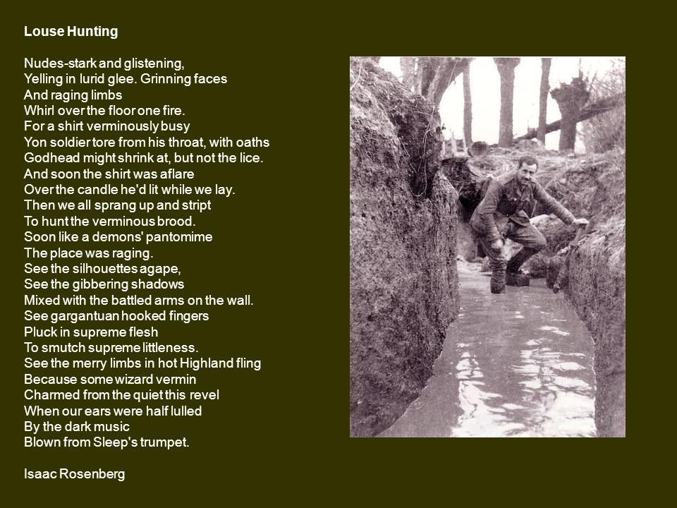 isaac rosenberg louse hunting