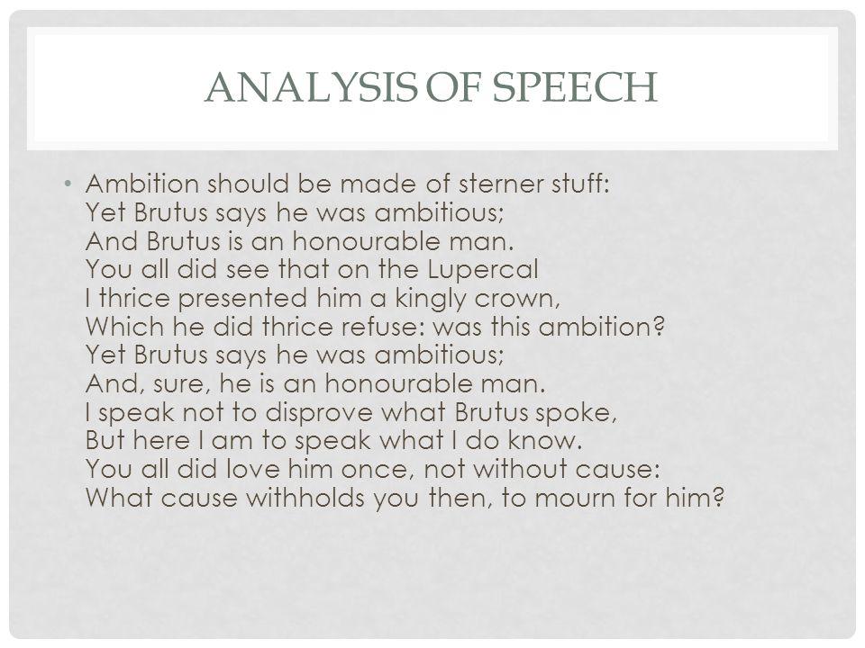 julius caesar brutus speech analysis