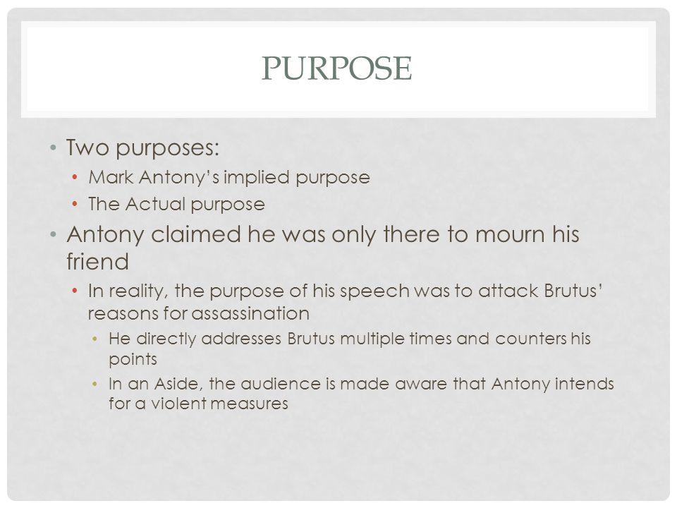 summary of mark antonys speech
