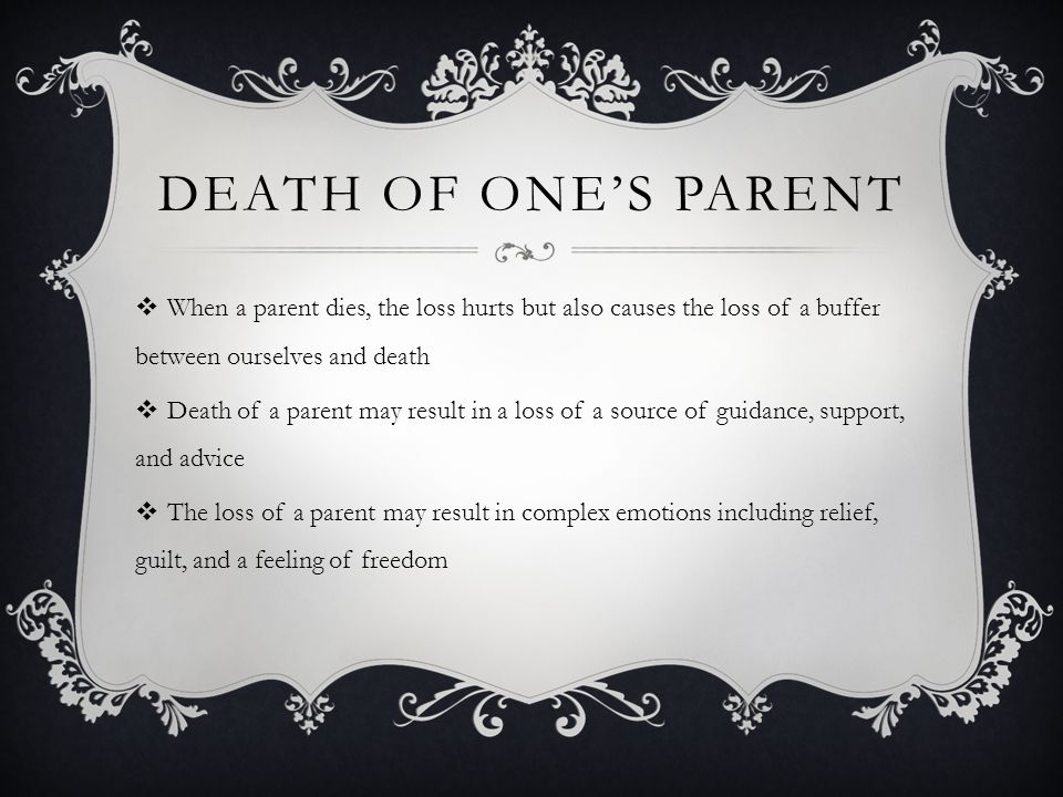 24 Death Of Ones Parent
