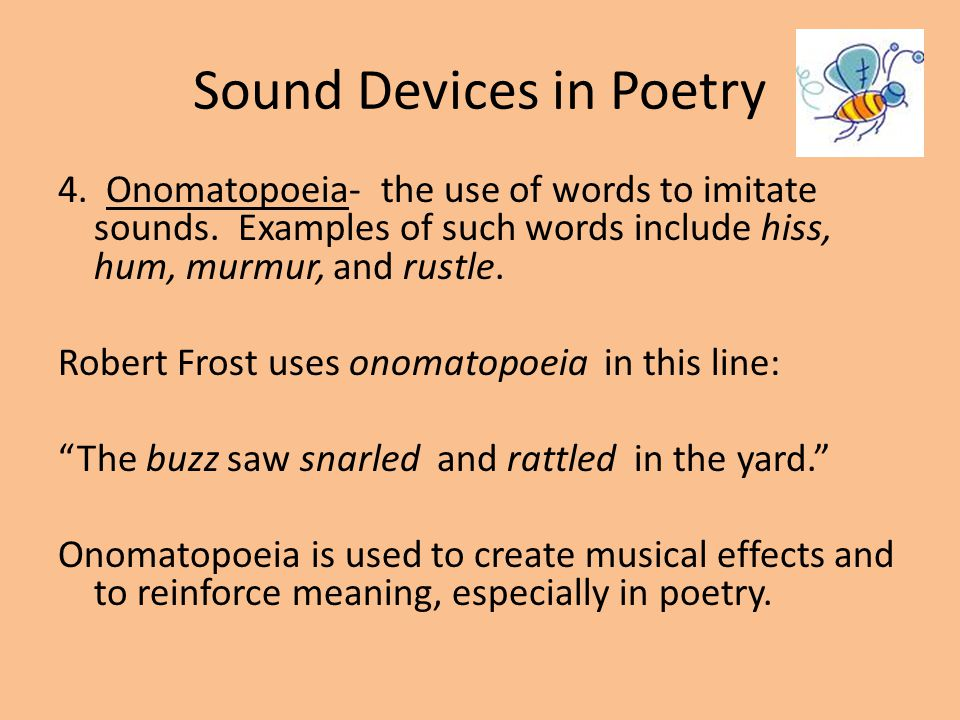 Sound Devices In Poetry Ppt Video Online Download