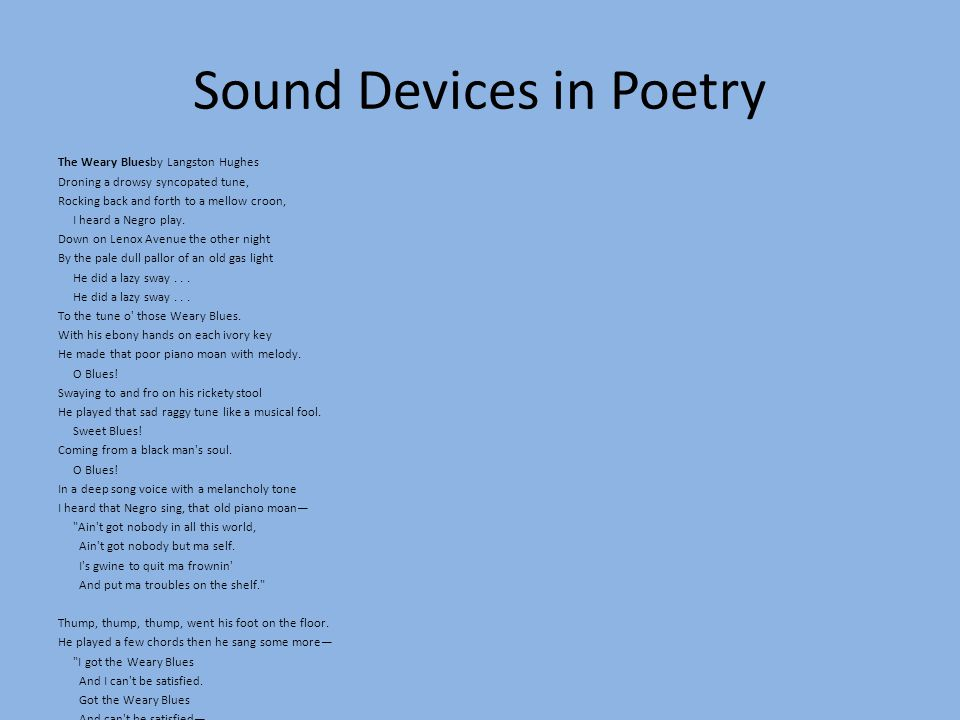 sound devices in ode on melancholy Ape lit & comp class activities and assignments weeks 19 & 20 (january 4-14, 2016) monday, january 4, 2016: students entered class and took notes over a review of ap english literature and composition: semester ii by the numbers in their bell work booklets.