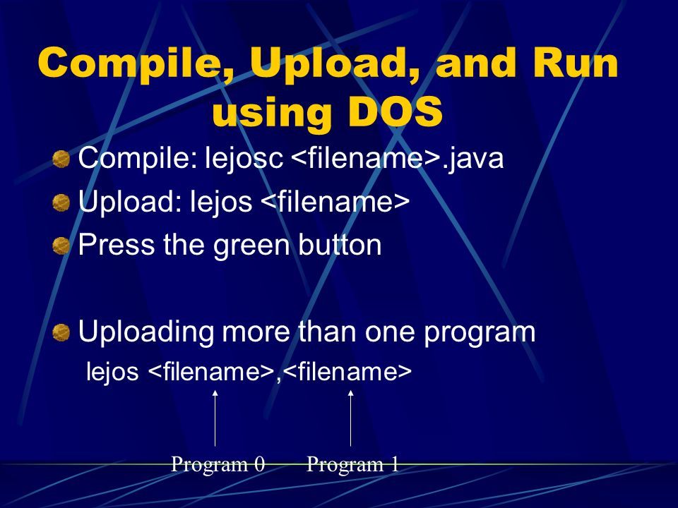 Compile, Upload, and Run using DOS
