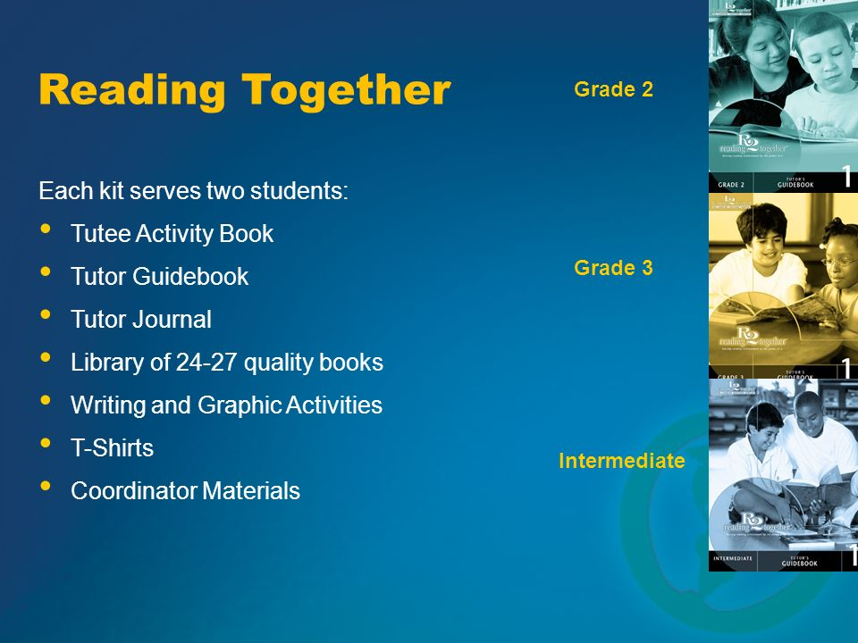 Reading Together Each kit serves two students: Tutee Activity Book