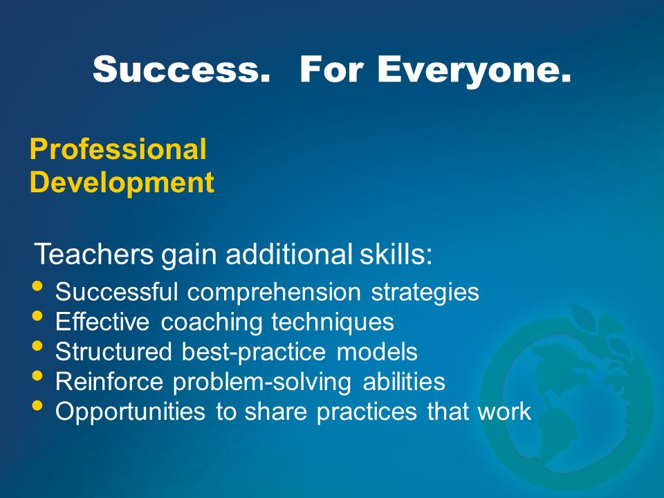 Success. For Everyone. Professional Development