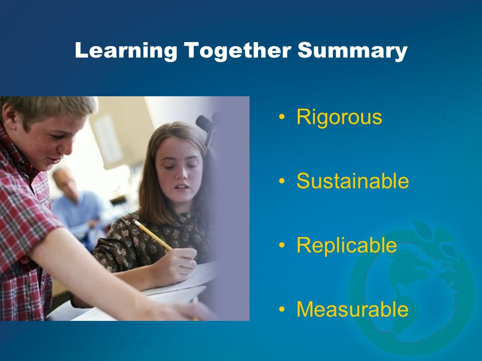 Learning Together Summary