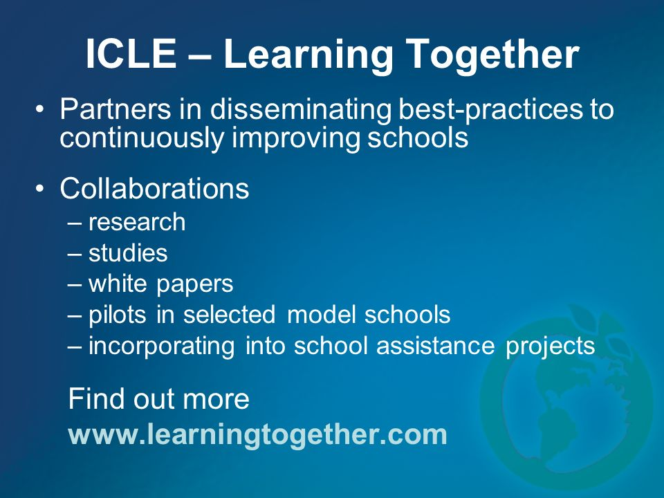 ICLE – Learning Together