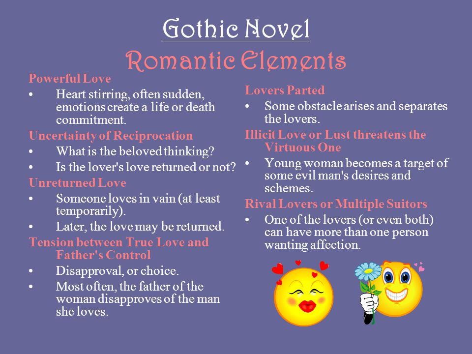 Gothic Novel Romantic Elements