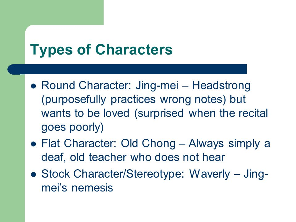 two kinds character analysis