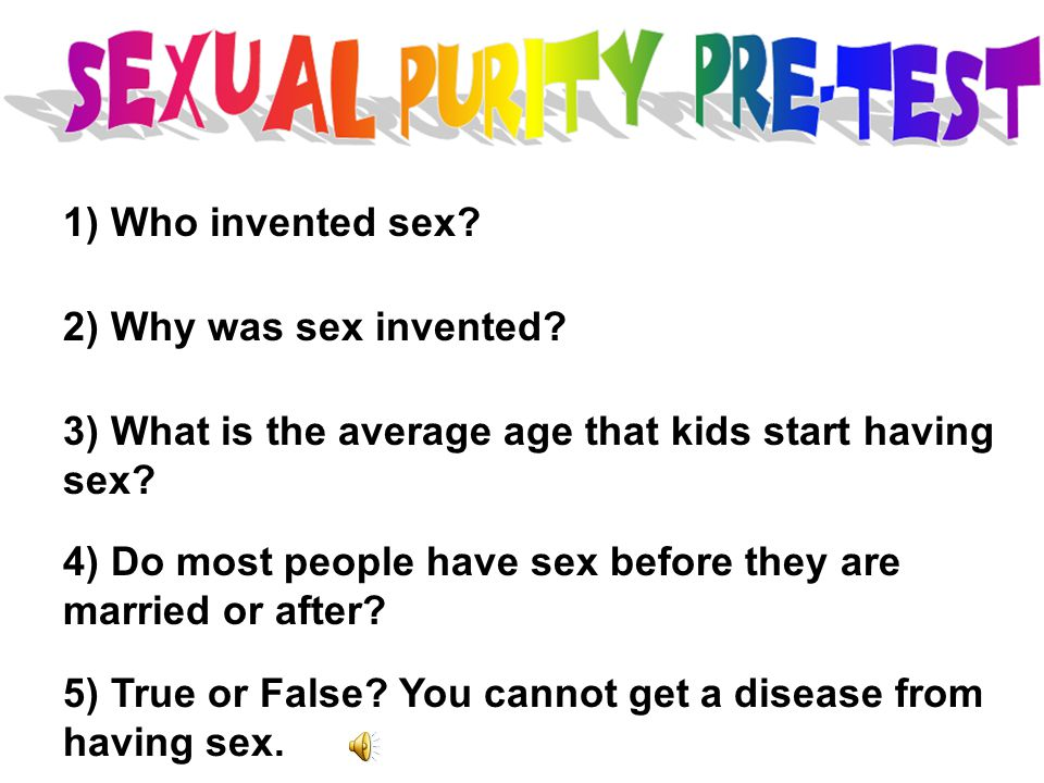 At what age should you start having sex