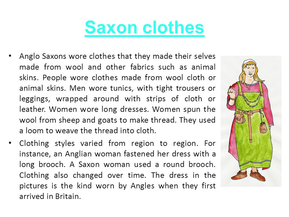 Saxon clothes
