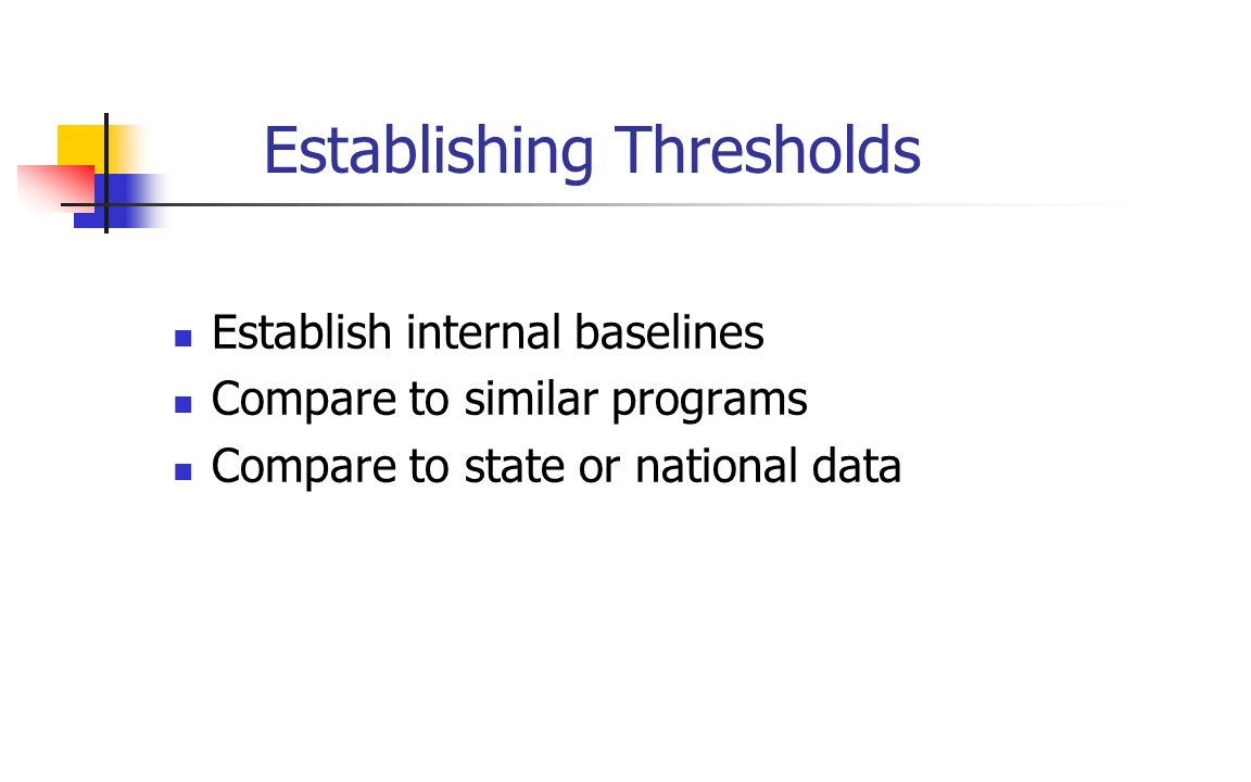 Establishing Thresholds