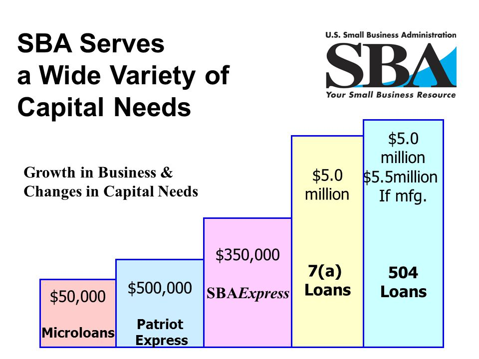 SBA Serves a Wide Variety of Capital Needs
