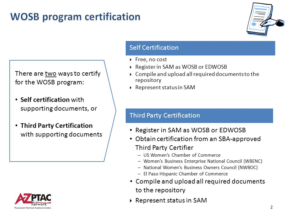 wosb program certification - ppt download
