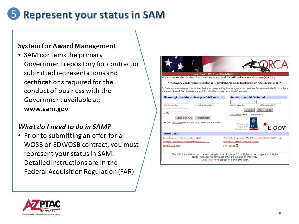 Represent your status in SAM 5