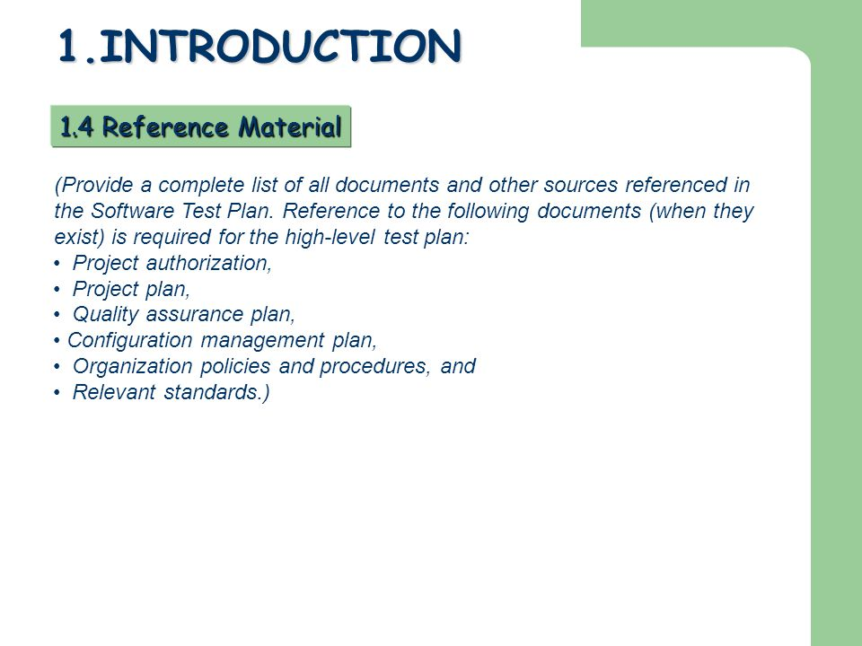 1.INTRODUCTION 1.4 Reference Material