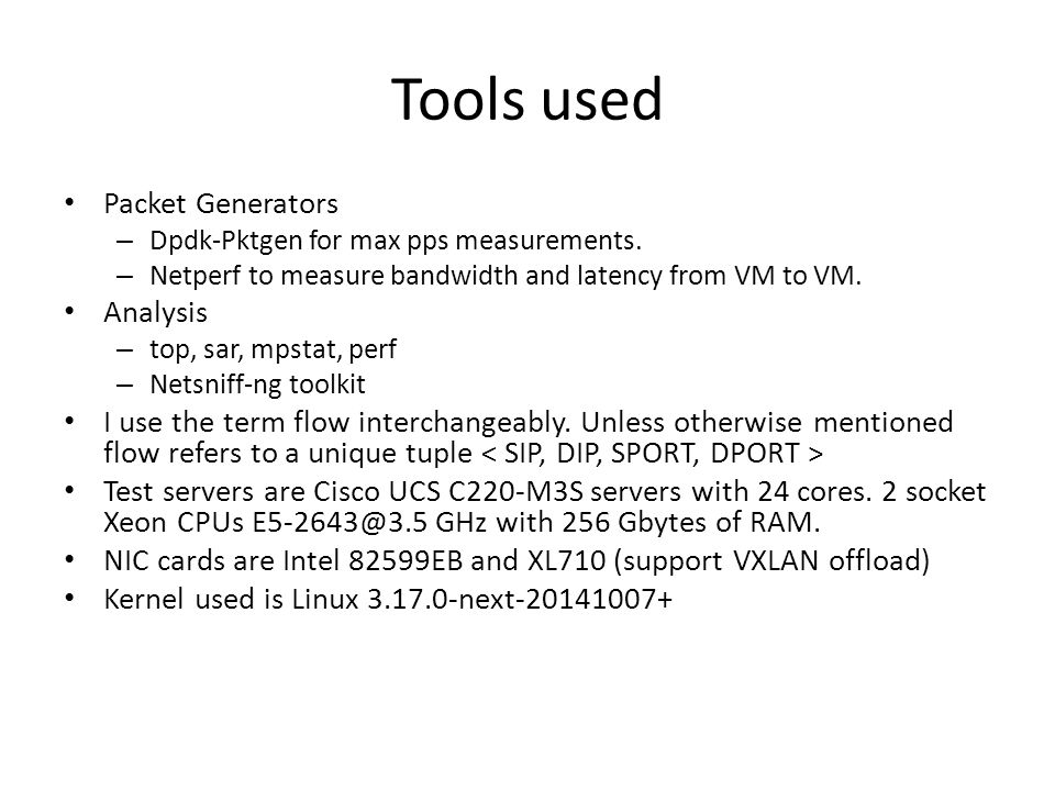 OpenVswitch Performance measurements & analysis - ppt video online