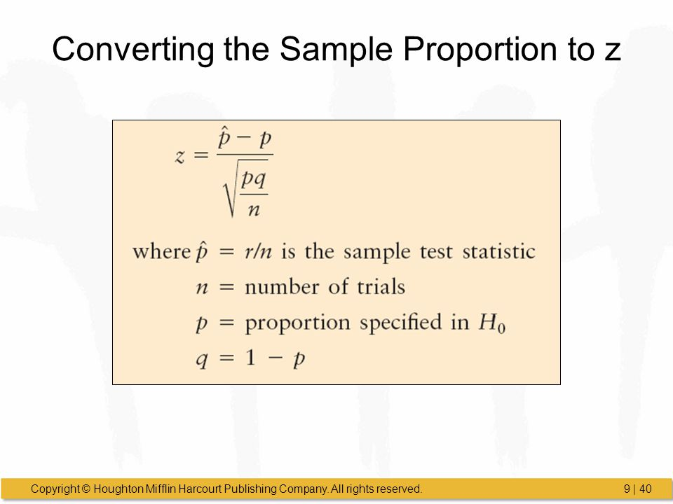 Converting the Sample Proportion to z
