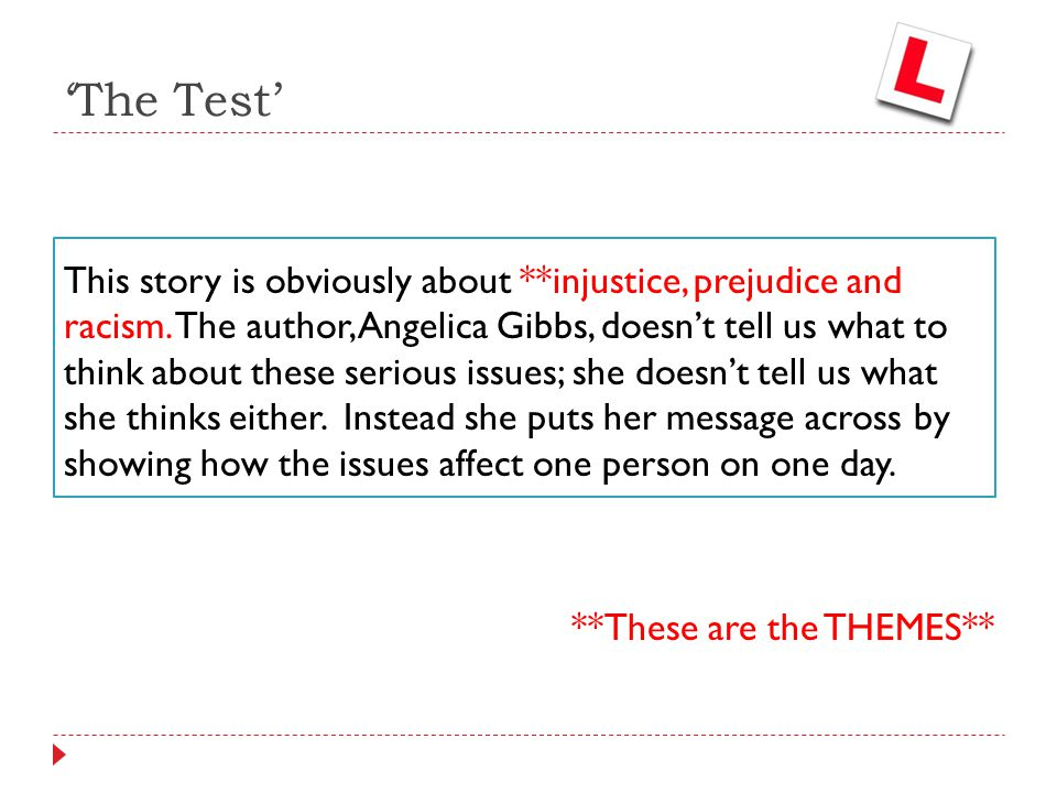 the test story