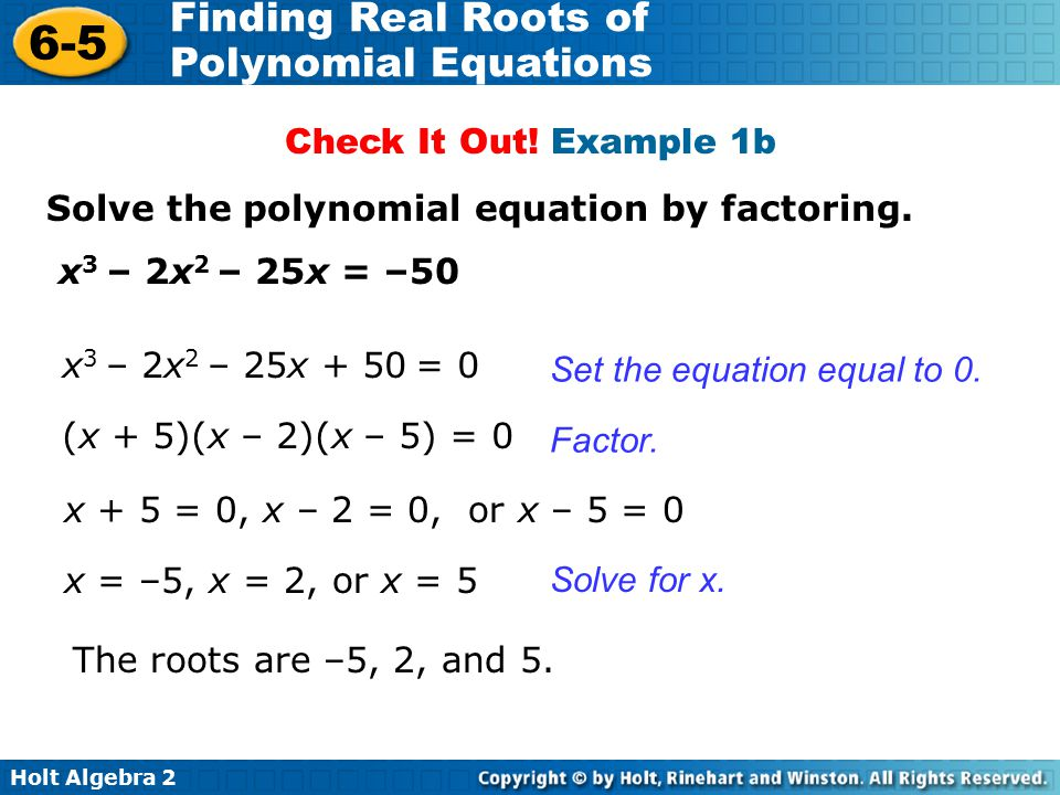Finding Real Roots Of Polynomial Equations Ppt Download