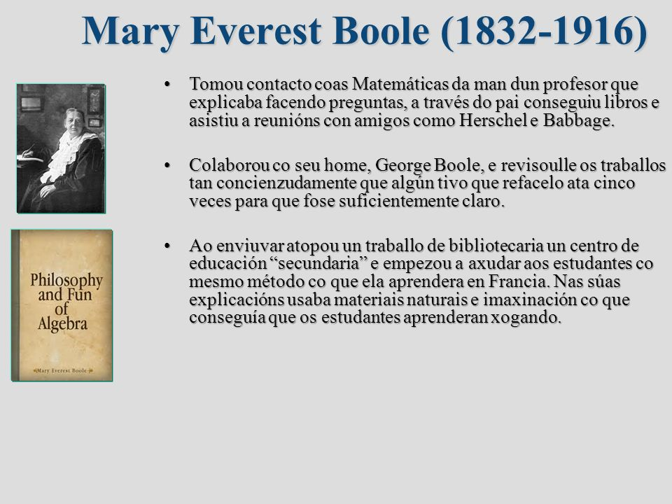 Mary Everest Boole ( )